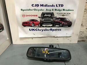 JEEP GRAND CHEROKEE OVERLAND WK 05-10 REAR VIEW MIRROR AUTO DIM DIP 55157459AA
