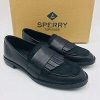 Sperry Women's Seaport Royal Slip-On Loafers Black Leather, MSRP $100