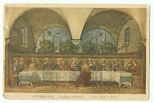 "Last supper, Firenza, with interesting 1926 postmark ""British Goods Are Best"""