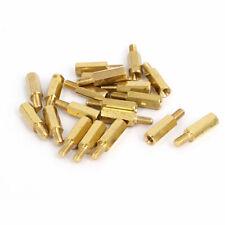 M3x12mm+6mm Brass Threaded Hexagonal Male/Female Standoff Spacer Pillar 20pcs