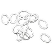2000 Silver Plated Oval Open Jump Rings 5.5x4mm W9X6 S1M0