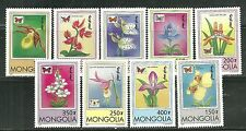 MONGOLIA 2269-77 MNH BUTTERFLIES AND ORCHIDS SCV 6.00