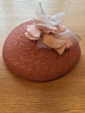 Marks and Spencer Coral Straw Hat From The Great Gatsby Collection 1920s Hat
