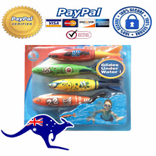 4 Piece Underwater Torpedo Rocket Swimming Pool Toy Swim Dive Kids Toys Fun