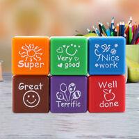 Cartoon Kids Stamp Set Motivation Sticker School Scrapbooking Stamp DIY Stamps