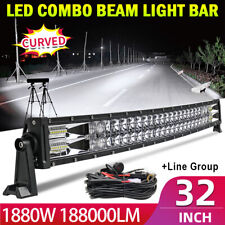32inch 1880W Curved LED Work Light Bar Combo Boat For Jeep Offroad Lamp PK 30/34