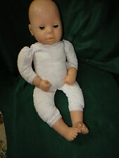 ZAPF CREATION SOFT BODY DOLL; EYES OPEN AND CLOSE