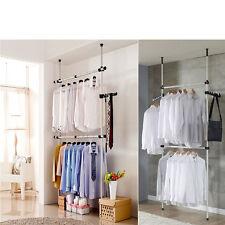 Adjustable Coat Garment Rack DIY Clothes Hanger Movable Flexible Wardrobe Airer