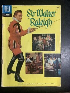FOUR COLOR #644  SIR WALTER RALEIGH  PHOTO COVER DELL  GOLDEN-AGE 1955 NICE!!