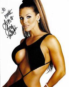 Midajah Signed WCW 8x10 Photo WWE Personalized To Matt