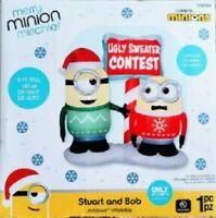 CHRISTMAS 6.5 FT MINION ELVES W/ PRESENTS LIGHTED AIRBLOWN INFLATABLE YARD DECOR