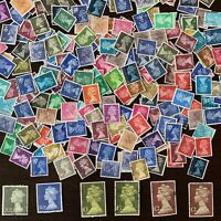 200+ GREAT BRITAIN MACHIN INVESTOR'S LOT USED STAMPS