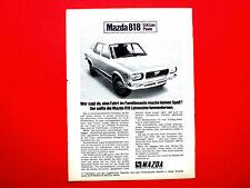 1972 Werbung aus Zeitschrift  Autohersteller MAZDA 818 Motiv 2