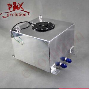 19 Liter Polished Aluminum Racing Drift Fuel Cell Tank W/ Level Sender 5 Gallon