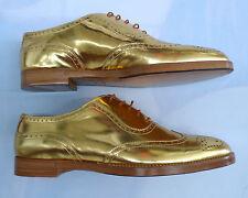 RALPH LAUREN COLLECTION Gold Specchio Quintin Oxford Shoe (SIZE US 38. B )
