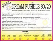 Quilters Dream Fusible Blend 80/20 Cotton Poly Batting Select (Mid Weight) Twin