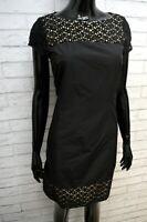 Vestito Donna Max Mara Weekend Taglia 40 Slim Abito Tubino Nero Cotone Dress
