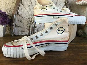 NOS 1960s Vtg Retro Keds Big Leaguer Sneakers yk130 Uniroyal High Top y 13 1/2M