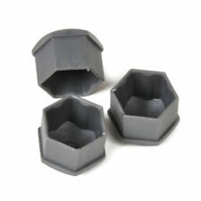 20pc Car Wheel Nut Bolt Center Covers Gray 17mm Caps & Tool for VW Audi Skoda