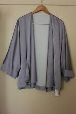 Zjoosh Grey Dress Satin silver Evening Jacket 14 16 New $180 Mother Silver