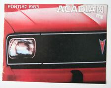 PONTIAC ACADIAN 1983 dealer brochure - French - Canada - ST501001117