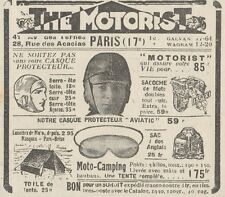Y5878 The Motorist - Casque pour motocyclistes - Pubblicità d'epoca - 1930 Ad