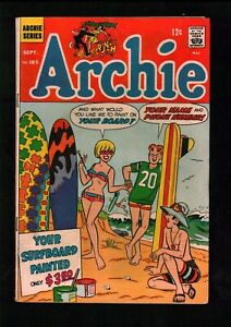 Archie (1942) #185 1st Archies Band Story Psychedelic Surfing Cover Jughead VG+