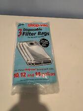 Shop Vac Disposable Filter Bags, 10, 12, & 14 Gal. Vacuum Bag (3-Pack) 906-62