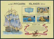 1978 PITCAIRN ISLAND BOUNTY DAY MINI SHEET FINE MINT MNH