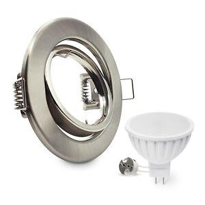LED Einbaustrahler Edelstahl gebürstet Einbauspot Niedervolt GU5.3 MR16 12V