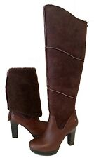UGG Australia DREAUX OVER THE KNEE BOOTS BROWN LEATHER US 11 /EUR 42 /UK 9.5