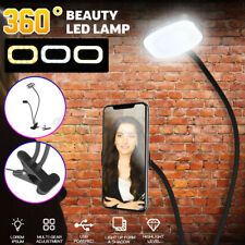 USB Dimmable LED Ring Light Phone Photo Selfie Makeup Live Lamp Desktop Clamp