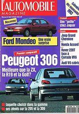 L'automobile Magazine   N°560   fev 1993 : Ford mondeo Peugeot 306
