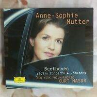 BEETHOVEN: VIOLIN CONCERTO. ROMANCES. ANNE-SOPHIE MUTTER. NEW YORK PHIL