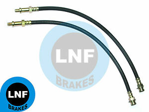 FORD F100 1/2ton F250 3/4 PICKUP TRUCK BRAKE HOSE FRONT PAIR X2 65-71 1965-1971
