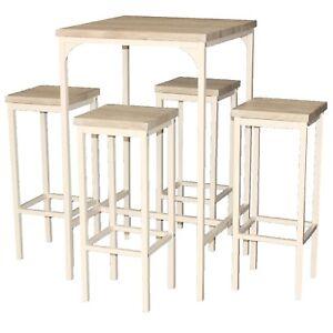 sgabelli da bar in legno massiccio antiscivolo piegato ufficio impilabili feste colore bianco RF-QM006-4 sgabelli da cucina IBUYKE Set di 4 sgabelli rotondi in legno
