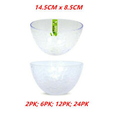 Plastic Small Bowl Ripple Style Clear Kitchen Food Fruit Salad Round Party Event