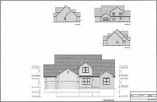 Full Set of two story 5 bedroom house plans 2,330 sq ft