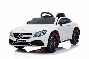 Kidcars Kinder Elektro Auto Mercedes C63 AMG 2x 25W 12V 7Ah 2.4G RC LED