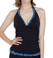 NWT GOTTEX PROFILE Tricolore HALTER BIKINI 2pc BATHING SUIT Swimsuit SET sz - 12