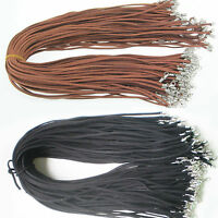 Wholesale 5/10Pcs Black Brown Suede Leather String Necklace Cord Findings 47CM