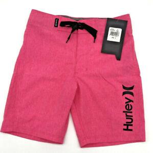Hurley Boys Board Shorts Swim Shorts Trunks Neon Pink Drawstring Size 5 NWT AB7