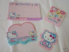 Sanrio Hello Kitty Locking Case Letter Set Plastic Red