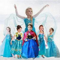 Toddler Girls Dress Frozen Elsa Dress Costume Princess Anna Party Dress Gift Lot