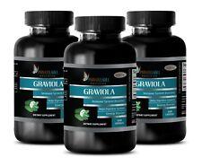 Soursop Plant - GRAVIOLA 650mg - Immune Booster - 300 Capsules 3 Bottles
