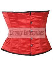 Shaper Cincher Taillen Waspie Full Steel Bone Spiral Waist Bust Red Satin Corset