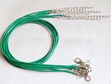 1mm Verde Cerato in Pelle Collana Girocollo Corda Catena Per Ciondolo 18 pollici FRM UK LT