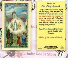 Our Lady of Knock with Prayer to Our Lady of Knock - Laminated Holy Card