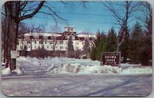 Mountainhome, Pennsylvania Postcard ONAWA LODGE Hotel / Winter c1950s Chrome