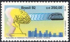 Brazil 1992 Telephone/Telecomms/Radio Dish Aerial/Telecommunications 1v (n27993)